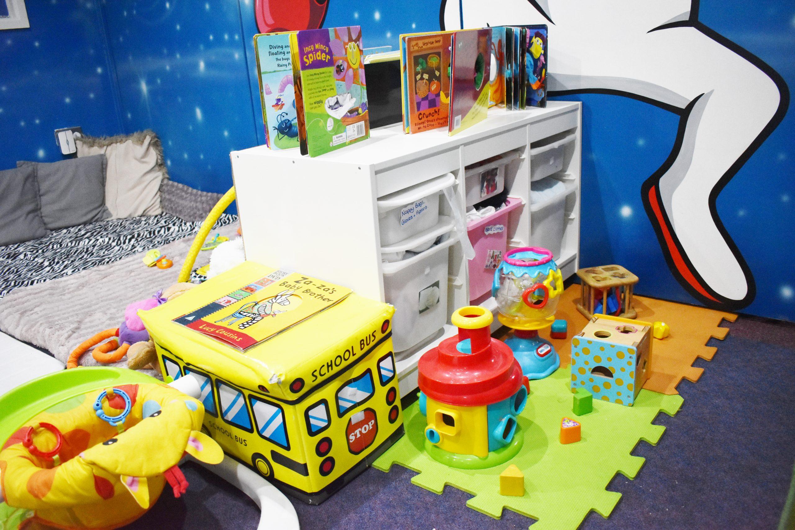 nursery toys and books
